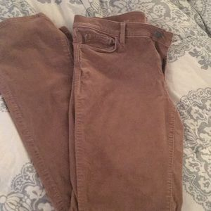 Women's tan corduroy pants